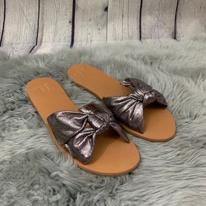 A New Day Nelora Metallic Knotted Slide Sandals